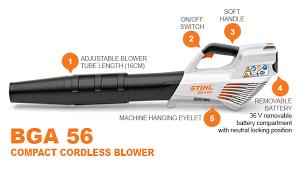 Stihl Bga 56 Battery Operated Blower Enviro